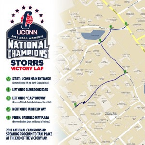 NCAA Championship - victory lap map.