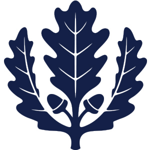 The oak leaf will remain as a secondary graphic element.