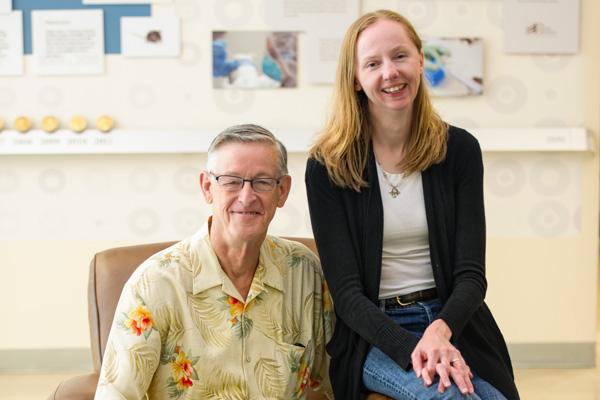 UConn Health Center's Dr. David Rowe and Jackson Laboratory's Cheryl Ackert-Bicknell are collaborating on a $3.2 million grant to understand bone genetics and function. (Rogier van Bakel of Eager Eye Photography for Jackson Laboratory)