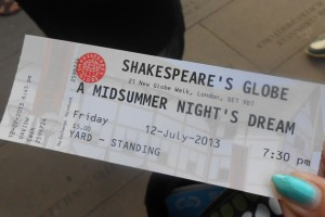 Alexandria Bottelsen took the opportunity to see 'A Midsummer Night's Dream' at Shakespeare's Globe, a reconstruction of the Elizabethan Globe Theatre, in London. (Photo courtesy of Alexandria Bottelsen)