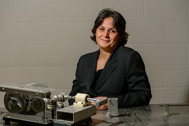 Leila Ladani, associate professor of mechanical engineering on Nov. 7, 2013. (Peter Morenus/UConn Photo)