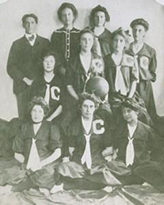 The first women's basketball team.