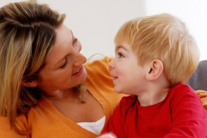 A mother and toddler engage in one-on-one interaction. (iStock photo)