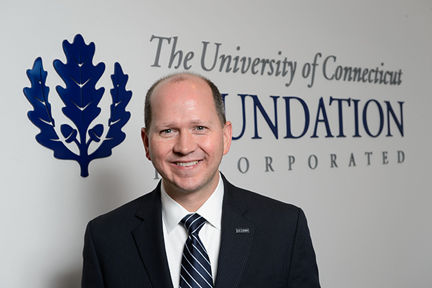 Joshua Newton, president and CEO of the UConn Foundation. (Peter Morenus/UConn Photo)