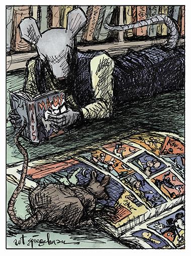 Maus Self-portrait, by Art Spiegelman.