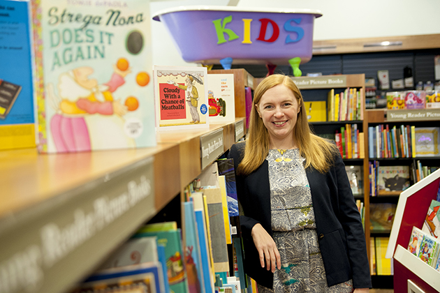 Victoria Ford Smith, recent hire in the English department and a specialist in children's literature on Jan. 7, 2014. (Sean Flynn/UConn Photo)