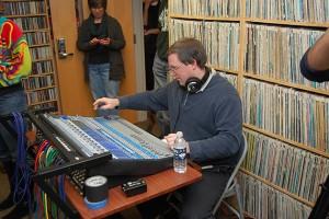 Jason McMullan, program coordinator, WHUS. (Ken Best/UConn Photo)
