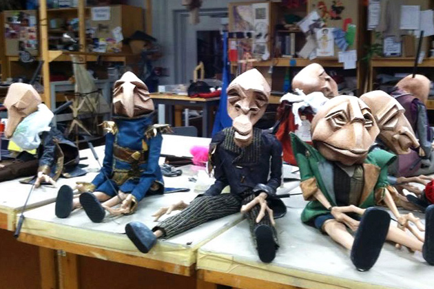 Goblin Puppets ready for Dress Rehearsal (Penny Benson Photo)