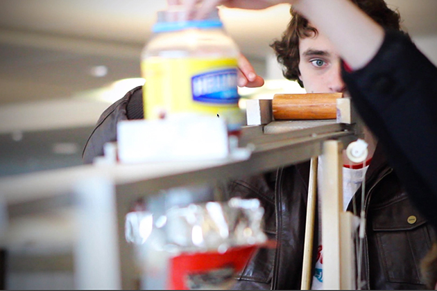 Rube Goldberg Contest 2014. (Ryan Gilmour/UConn Photo)
