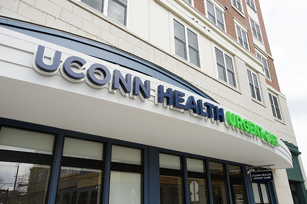 A view of UConn Health Urgent Care at Storrs Center on March 25, 2014. (Peter Morenus/UConn Photo)