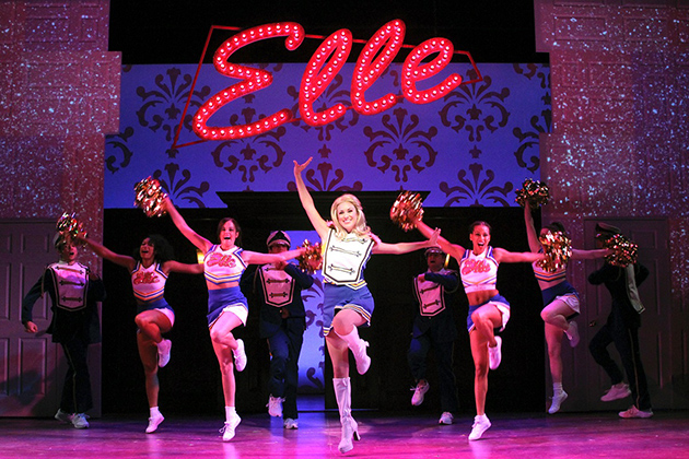 Members of the cast dance their way into Harvard Law School in Legally Blonde The Musical at Connecticut Repertory Theatre. (Gerry Goodstein for UConn)