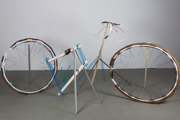 'Sid, the Butcher's Bike,' by Shane Morrissey '14 MFA. (Benton Museum/UConn Photo)