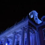 Blue Lights on Wilbur Cross Signal Autism Awareness