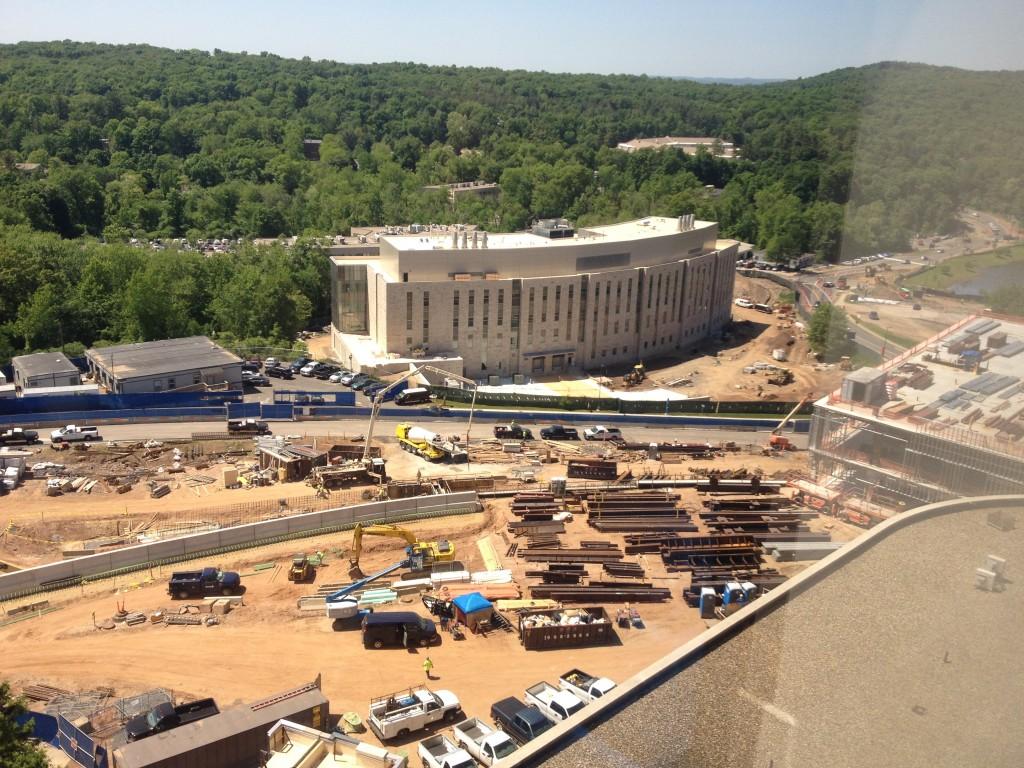 Construction of the Garage 2 on June 2, 2014. (Chris DeFrancesco/UConn Health Photo)