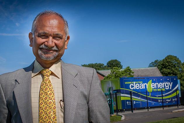 Prabhakar Singh, director of UConn's Center for Clean Energy Engineering. (Christopher LaRosa/UConn Photo)