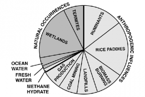 Natural and anthropogenic sources of methane. (Image: U.S. Dept. of Energy Technology Laboratory)