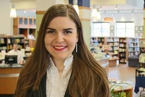 Krisela Karaja '14 (CLAS), an Honors graduate with a double major in English and Spanish literature. (Samantha Ruggiero '14 (CLAS)/UConn Photo)
