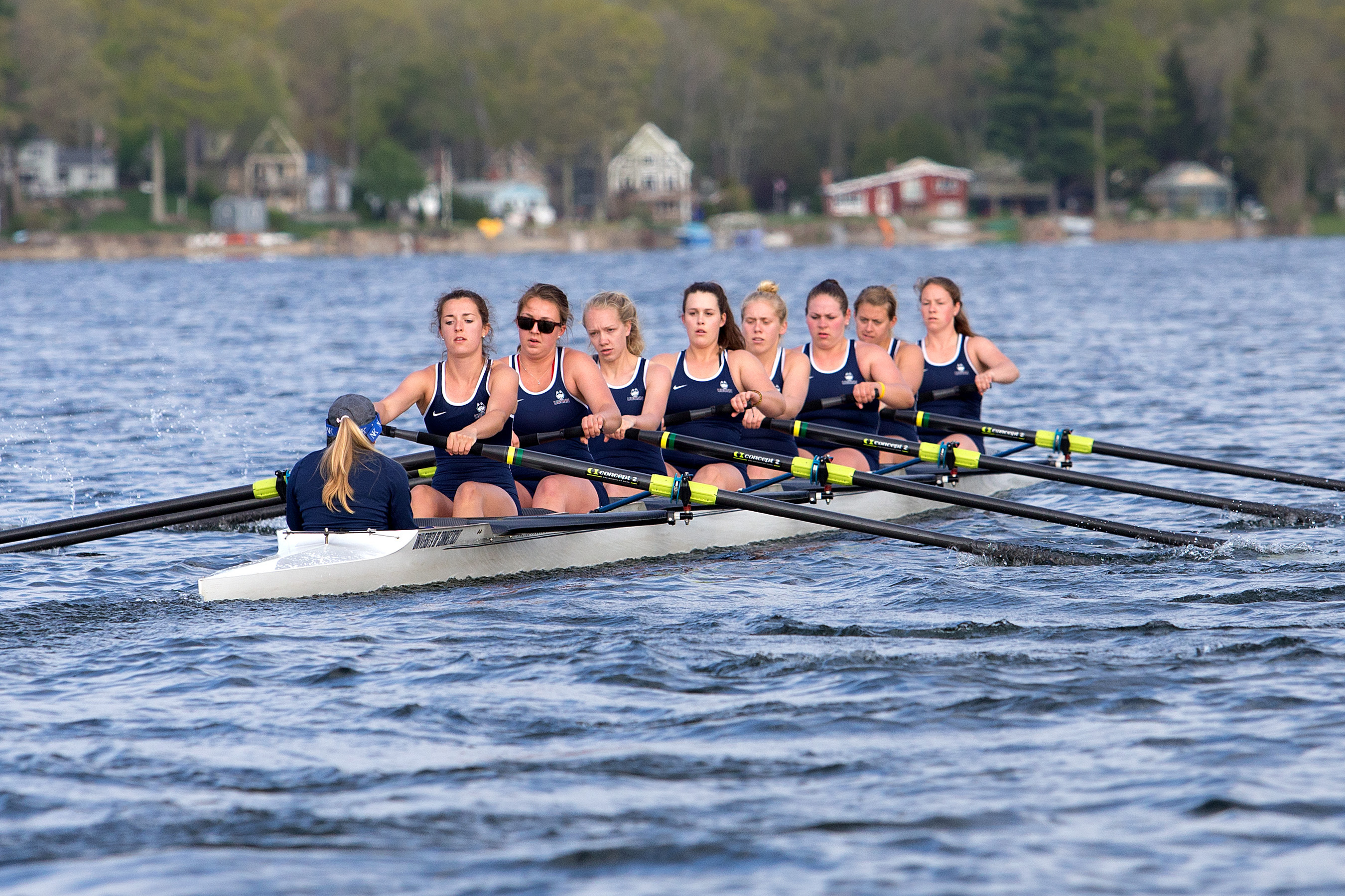The women's rowing team placed 31 members on the American Athletic Conference 2013-2014 All-Academic Team. (Stephen Slade '89 (SFA) for UConn)