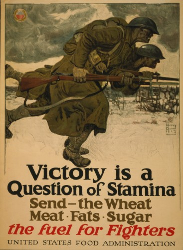 'Victory is a Question of Stamina, 1917,' Harvey Dunn (1884-1952), color lithograph poster. (Image courtesy of the Library of Congress, Prints and Photographs Division)