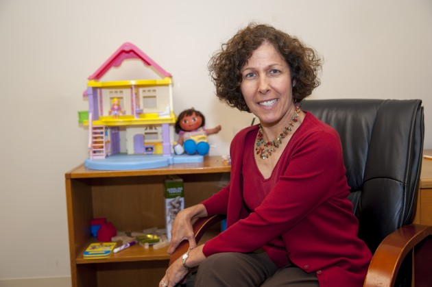 Golda S. Ginsburg, professor of psychiatry, at her office in West Hartford. (Sean Flynn/UConn Photo)