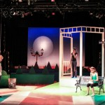 Student on 'Cloud Nine' with Set Design for CRT Show