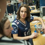 Cheerleader Takes Time Out from Lab for Super Bowl