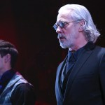 Luke Hamilton, left, (Ensemble) and Terrence Mann (Inspector Javert) in Les MisÉrables: A Musical Celebration onstage at Connecticut Repertory Theatre's Harriet S. Jorgensen Theatre. (Gerry Goodstein for UConn)