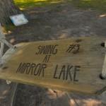 The swing beside Mirror Lake. (Elizabeth Caron/UConn Photo)
