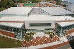 An aerial view of the Werth Family UConn Basketball Champions Center. (Bret Eckhardt/UConn Photo)