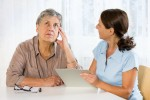 An elderly woman is evaluated for memory loss. (iStock Photo)