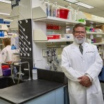Dr. Pramod Srivastava, ovarian cancer researcher at UConn Health on Oct. 1, 2014. (Lanny Nagler for UConn)