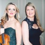 Solomiya Ivakhiv, left, assistant professor of violin and viola, and pianist Angelina Gadeliya. (Photo by Stephanie Brauer, Ukrainian Institute of America, NYC)