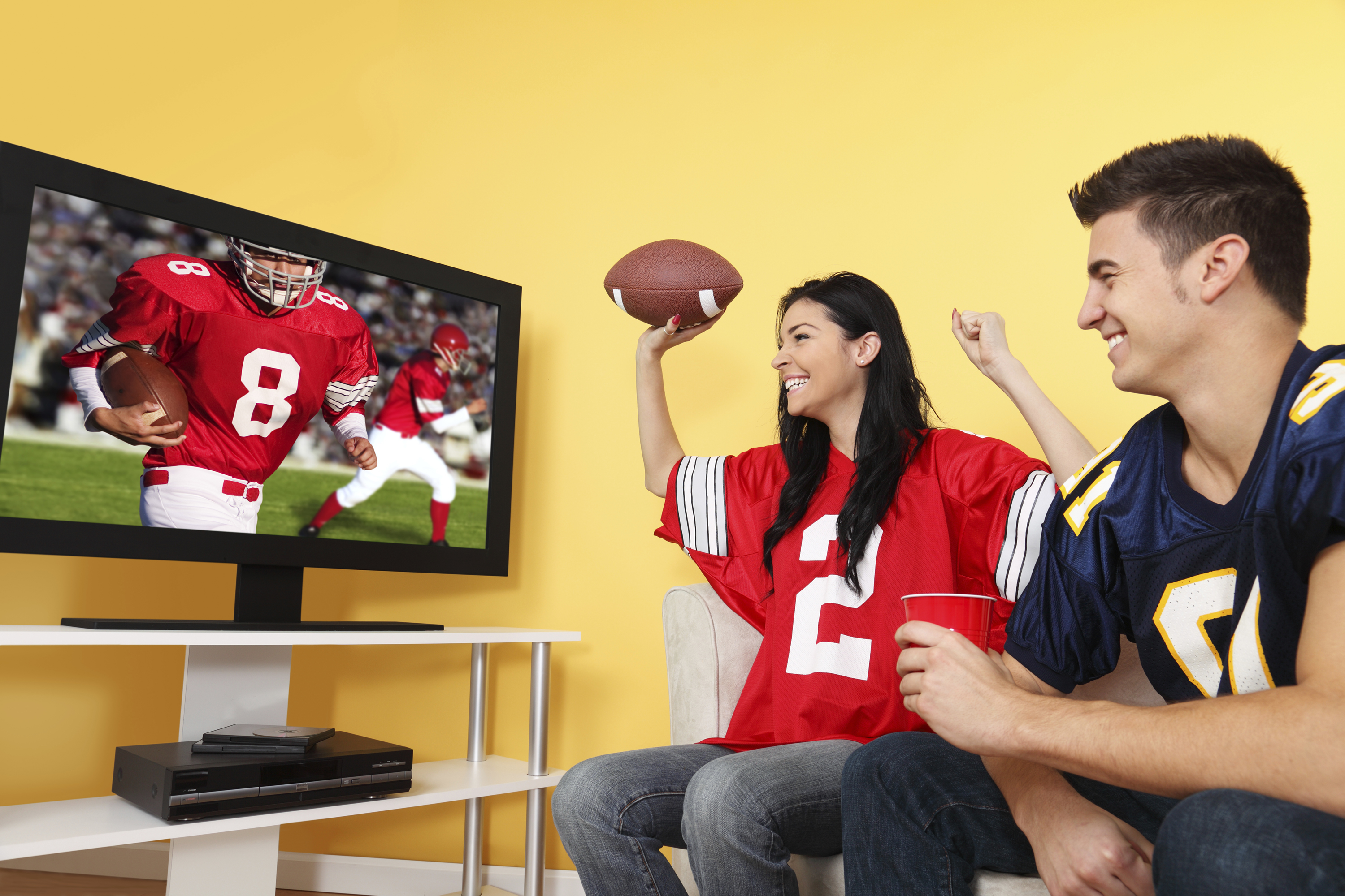 football watching nfl tv sports games today screen game fans sponsors istock night tailgate uconn couples flat affect returns tvs