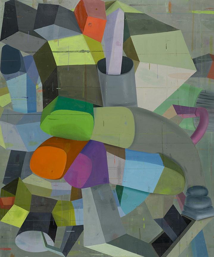 'Pittsburgh left,' oil on canvas (2014), Deborah Zlotsky '89 MFA.