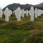 Gravestones at the Potočari genocide memorial near Srebrenica. (Michael Büker Photo, via Wikimedia Commons)