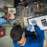 John Ovian '17 (CLAS) in the lab. (Sean Flynn/UConn Photo)
