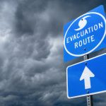 Hurricane evacuation sign. (iStock Photo)