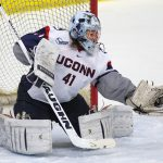 Two-time honoree Annie Belanger was among a select group to earn recognition as one of Hockey East's Top Scholar Athlete by boasting a 4.0 GPA for the season. (Athletic Communications/UConn Photo)