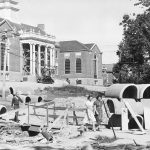 Steam lines are installed during the construction of Wilbur Cross Building in 1939. (Archives & Special Collections, UConn Library)