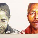 'Se Siente El Miedo,' acrylic paint on wood by Michelle Angela Ortiz (2016).