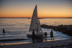 The UConn Avery Point Sailing Club on Nov. 18, 2016. (Sean Flynn/UConn Photo)