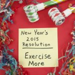 New Year's resolution to exercise more.