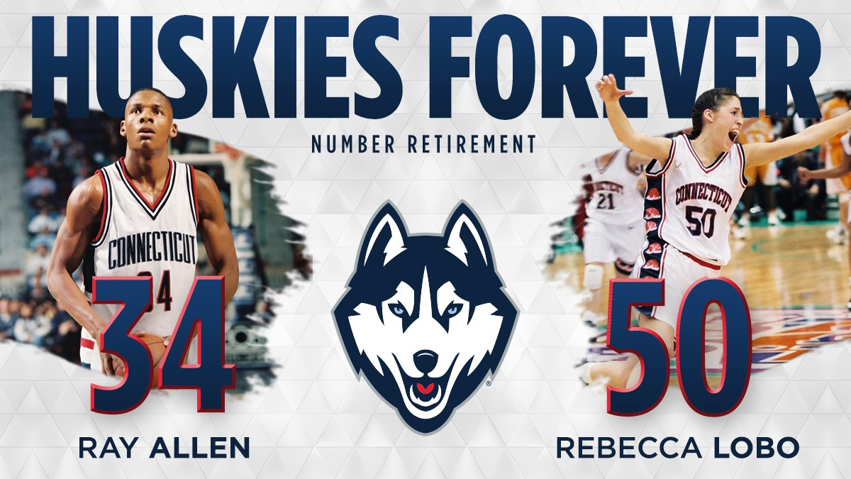 big sale 8bd32 83377 UConn to Retire the Numbers of Two Basketball Icons - UConn ...