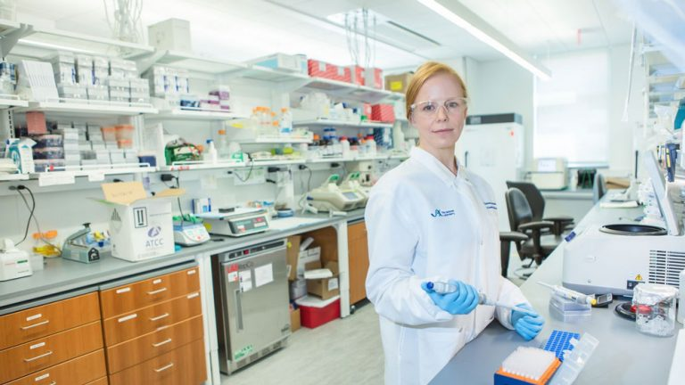 Dr. Christine Beck in her lab