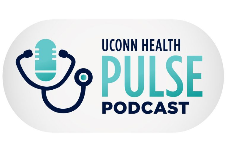 The UConn Health Pulse Podcast logo.