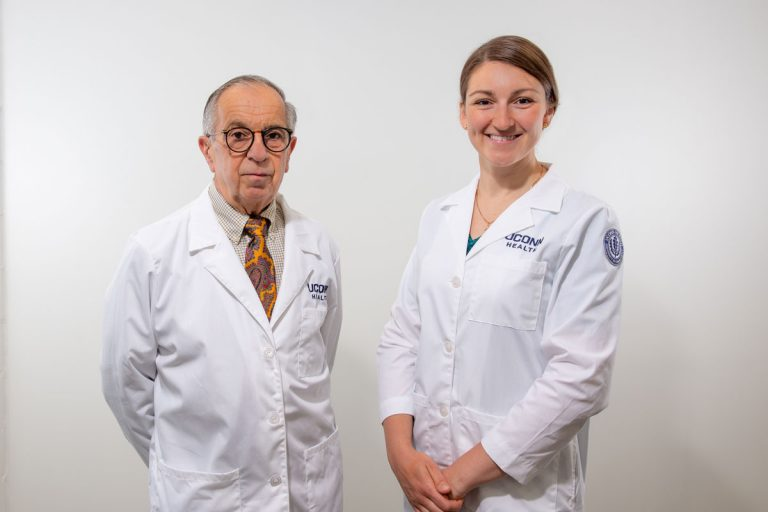 Drs. Beebe and Solovyova portaits, white coats