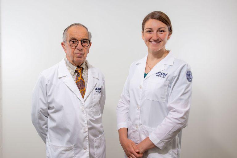 Drs. Beebe and Solovyova portaits, white coats