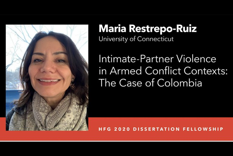 Maria Restrepo-Ruiz social media announcement from Harry Frank Guggenheim Foundation