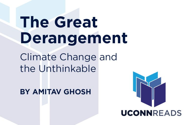 Title of book along with the author and UConn Reads logo