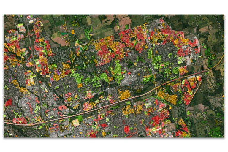 Geo-image showing landscape